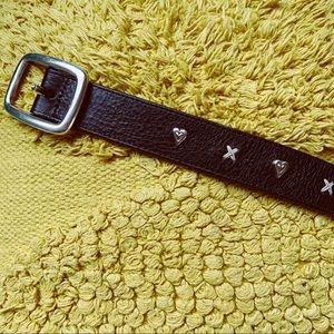 90s Brighton Western Heart Kiss Leather Belt